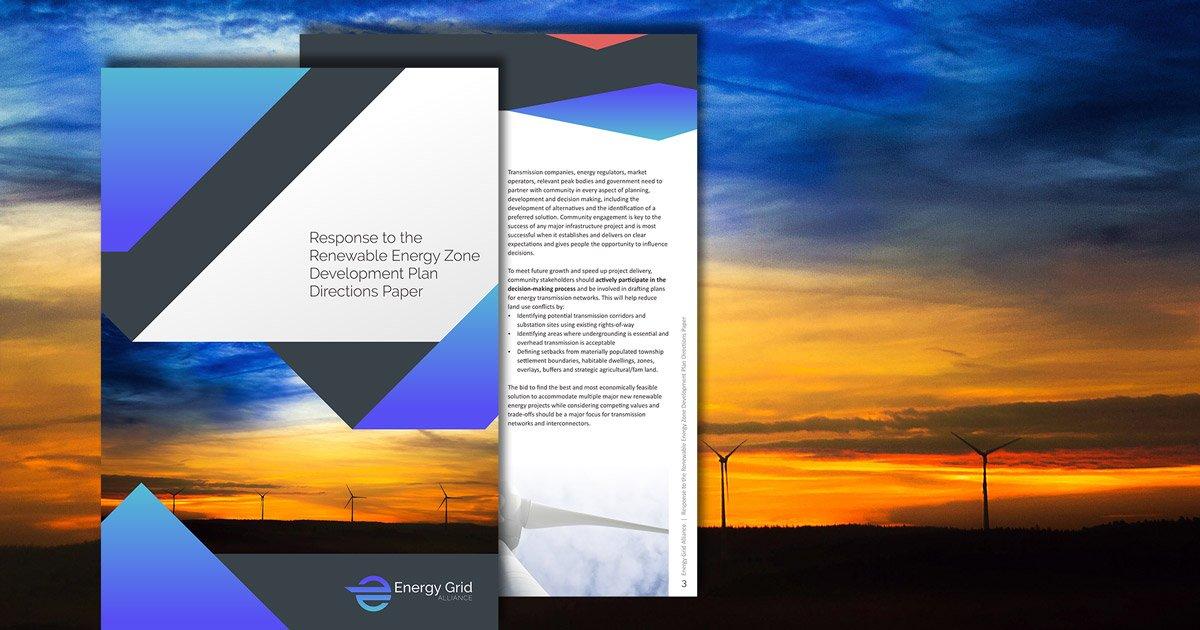 Response to the Renewable Energy Zone Development Plan Directions Paper